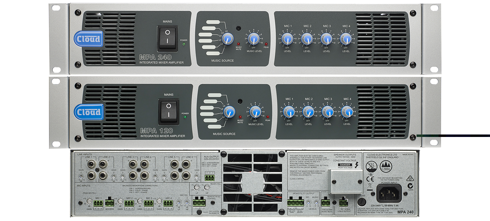 Cloud MPA-Series Mixer Amplifiers - Refreshed and Now Shipping