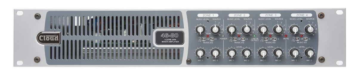 46-80 & 46-80T 4 Zone Integrated Mixer Amplifier