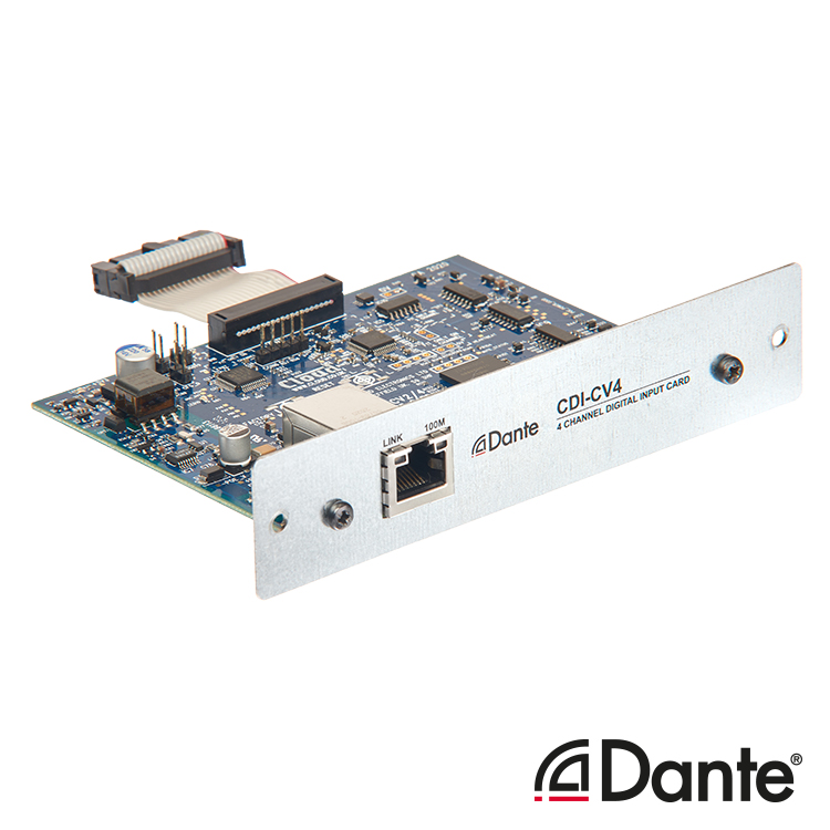 CDI-CV4 Optional 4ch Dante Card for CV Amplifier