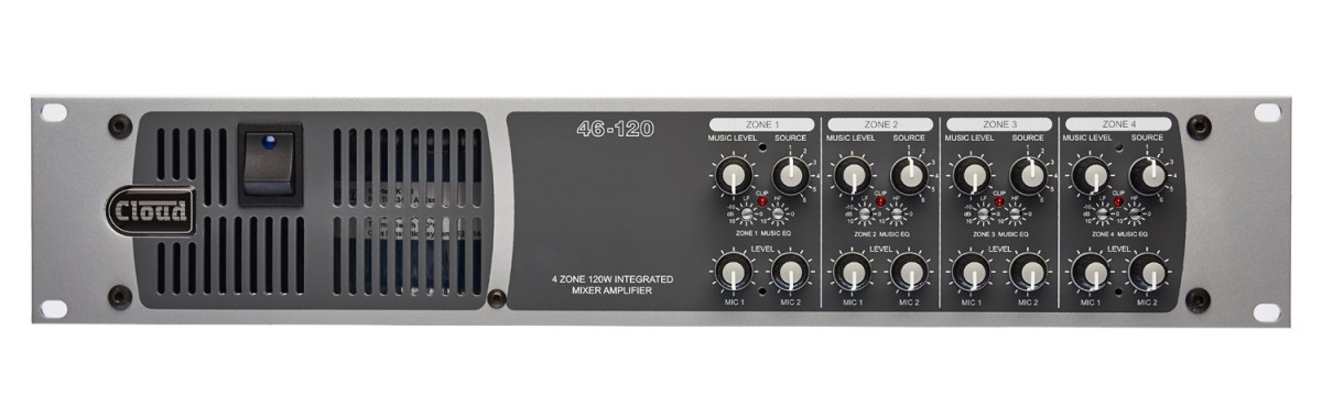 46-120T 4 Zone Integrated Mixer Amplifier