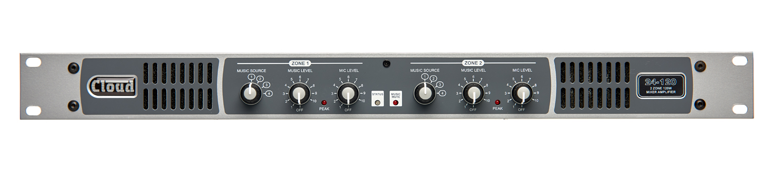 24-120 2 Zone Integrated Mixer Amplifier