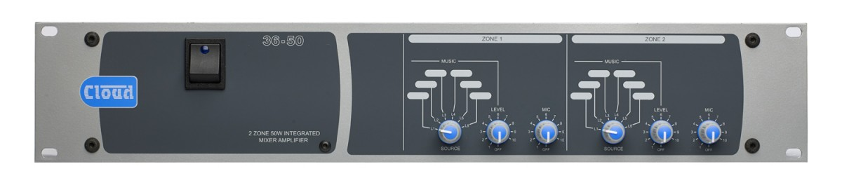 36-50 2 Zone + Utility Mixer Amplifier