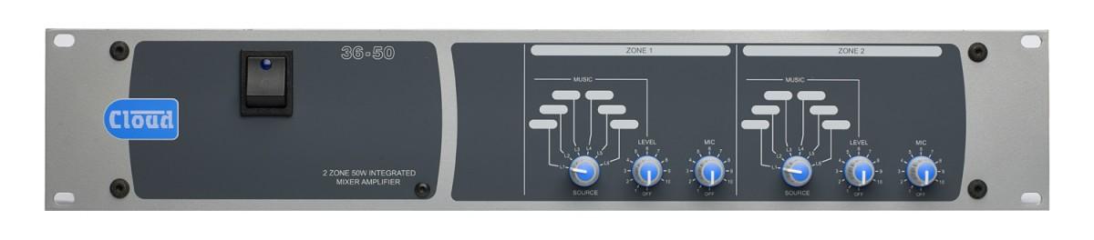 36-50 2 Zone + Utility Mixer Amplifier
